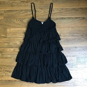 Black Tiered Dress Soft Knit Sleeveless by J.Crew